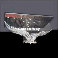 Free Shipping New Luxury Modern Crystal Chandelier Lighting Pendant Lustre Hall LED Lights Cristal Lamp L100