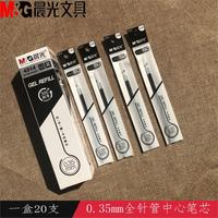 20pcs/Lot Gel Pen Refill 0.35mm Black Ink Refill For Writing 4314 high quality