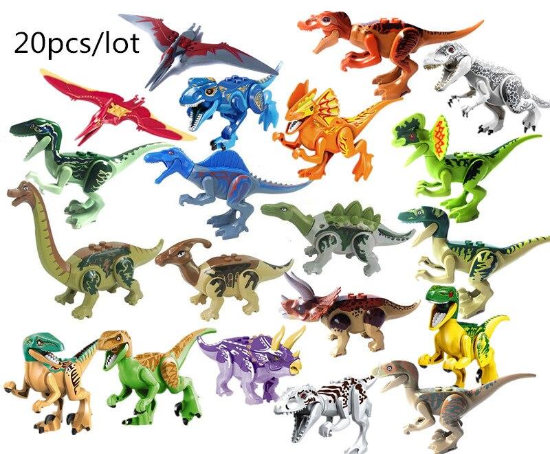 YG77037 YG77001 YG77021 Dinosaur Tyrannosaurs Rex Parasaurolophus Brachiosaurus S aegyptiacus Building Blocks bricks baby Toys
