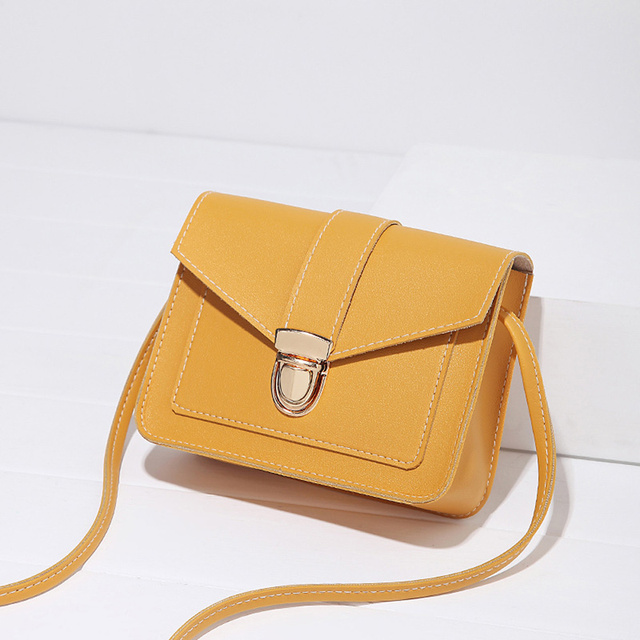 Fashion Small Crossbody Bags for Women 2019 Mini PU Leather Shoulder Messenger Bag for Girl Yellow Bolsas Ladies Phone Purse 1