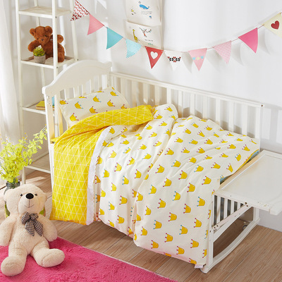 Top Quality Lovely Crown Baby Bedding Set Cotton Soft Breathable Crib Kit Blanket Baby Sheet , Duvet/Sheet/Pillow, with fillingTop Quality Lovely Crown Baby Bedding Set Cotton Soft Breathable Crib Kit Blanket Baby Sheet , Duvet/Sheet/Pillow, with filling