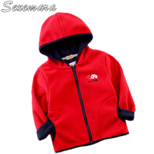SexeMara Childrens fleece jacket Embroidered new childrens wear Mens and girls hooded sweater baby top