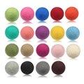 100 mm colorido grande de fieltro de lana bola para decoración de la navidad 10 unids/lote