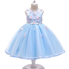 Girls Birthday Christmas Dress Kids Flower Elegant Party Wedding Dresses Gift For 2-10 Years New Year