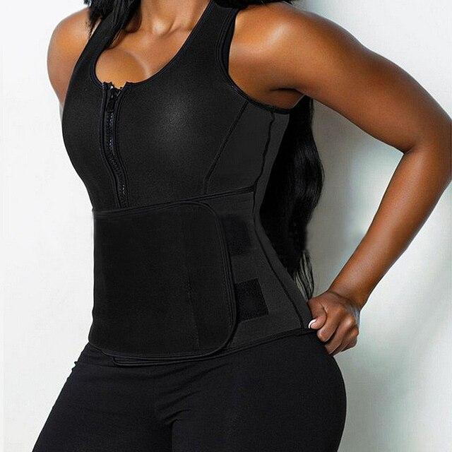 Hot Shapers Neoprene Sauna Waist Trainer Vest Workout Shaperwear Slimming Adjustable Sweat Belt Fajas Body shaper Slim Underwear 1