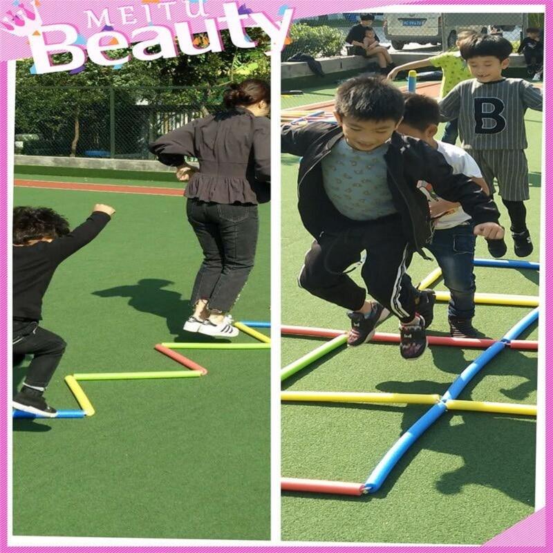 Children Sense Fun Sponge Jump Lattice Sports Jump Rope Ladder Outdoor Parent-child Game Jump Toys