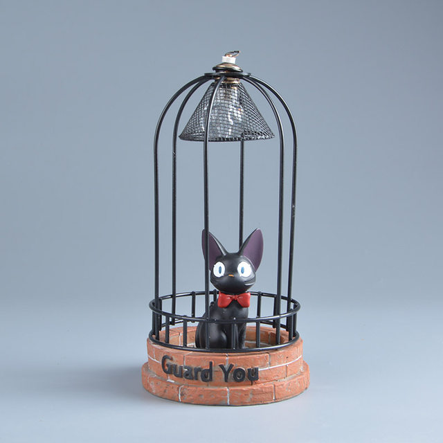 Anime Kikis Delivery Service Jiji Led Lights Night Lamp Kids Toys Figure Studio Ghibli Miyazaki Hayao Cm Action Figuras Doll