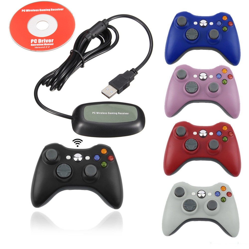Game Wireless Controller Gamepad Joystick And Bluetooth PC Receiver For Microsoft XBOX360 For PC With Windows 7 8 10 XP Vista