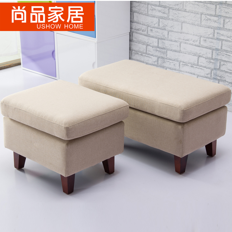 Fabric Sofa Foot Stool Clothing Step Living Room Pier Shoe Bench Ottoman Footstool On Aliexpress Alibaba Group