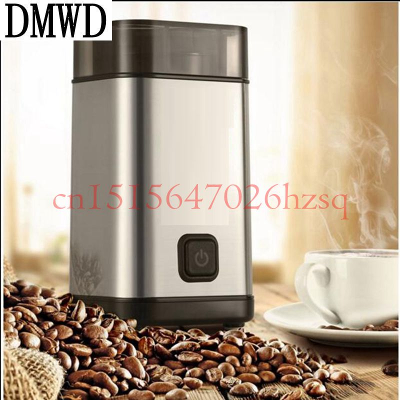 DMWD Electric Coffee Grinder 220V powder Maker with Stainless Steel Blades 300W Beans Mill Herbs/Nuts/seasonings For Home use