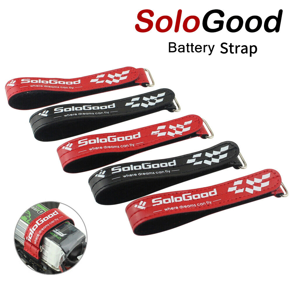 SoloGood 5PCS Strong RC Lipo Battery Strap Tie Cable Tie Down Strap 25*2cm Colorful For RC FPV Helicopter Quadcopter Model Tie