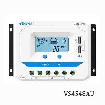 45A VS4548AU 12V 24V 36V 48V EPSolar PWM Solar Panel Charger Battery LCD Backlight 5V Mobile phone charger