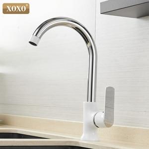 Image 3 - Кухонный кран XOXO, латунный Смеситель для холодной и горячей воды с одной ручкой и вращением на 360 градусов, Tap20021 1 Torneira,