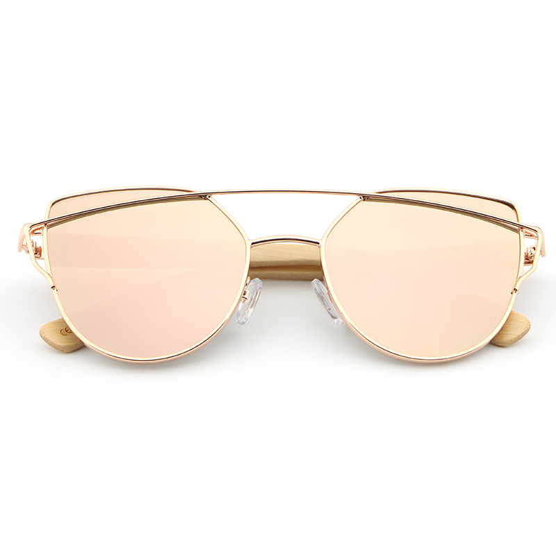 8ab30d8ed33 HDCRAFTER Cat Eye sunglasses women wood Bamboo ladies Sunglasses Fashion  Mirror Sun glasses for Women Brand Designer female-in Sunglasses from  Apparel ...