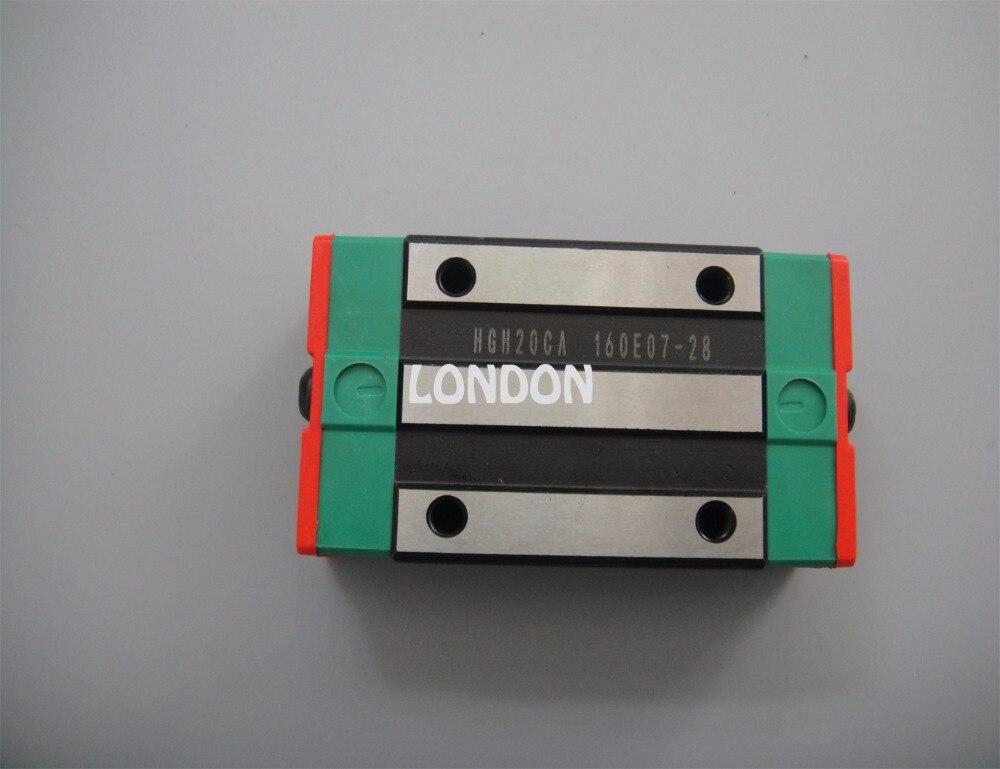 Guía lineal HIWIN 2pcsx HGR20 -L1000mm Rail + 4pcs x HGH20CA Carros - Piezas para maquinas de carpinteria - foto 2