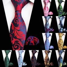 67 Цветов Галстук Платок Набор для Человека 8 см Шелковый Жаккардовый Галстук Пейсли Цветок  Лучший!