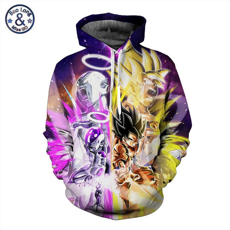 US $19.98 20% OFF|Anime Dragon Ball Hoodie Male 3D Sweatshirts Super Saiya Vegeta Kids Goku Printed Outwear Teen Boy Cartoon Hoody Pullover in Hoodies