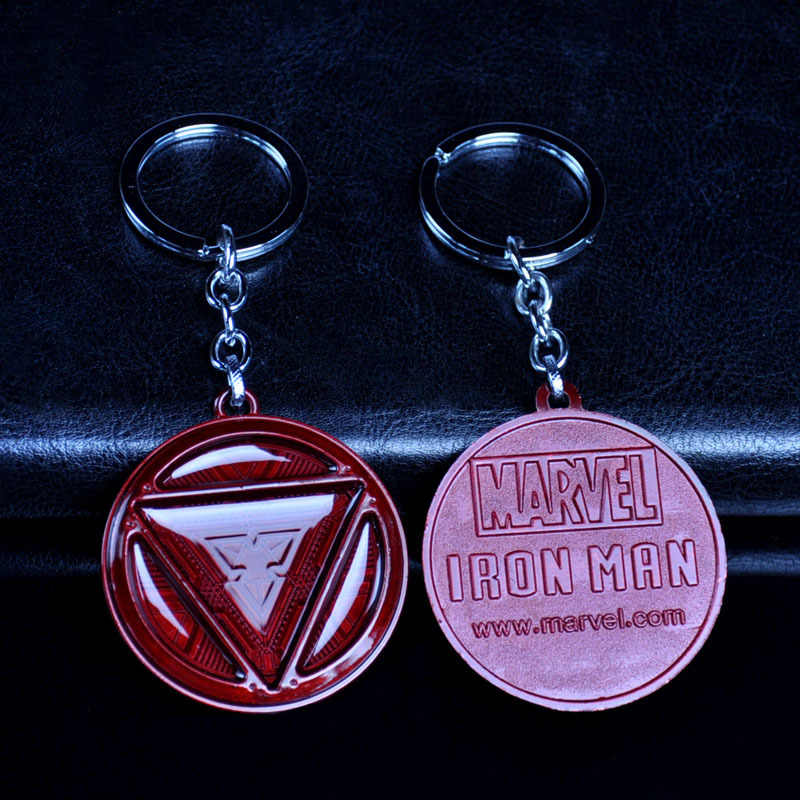 5 см энергии блока с металлической эмблемой Железного человека фильм брелки логотип брелок в стиле аниме кулон-брелок для автомобиля игрушка-брелок Аниме магнитные серьги новый