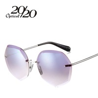 20 20 New Fashion Women Sunglasses Luxury Design Coating Gradient Lens Female Sun Glasses Driving Frame