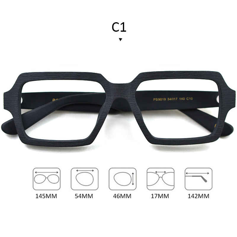 Image 2 - Square Wooden Glasses Men Woman Transparent Lens Brand Design Handmade Eyeglasses Male Vintage Style Acetate Top Quality S307-in Men's Eyewear Frames from Apparel Accessories