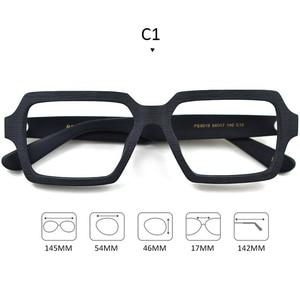 Image 2 - Square Wooden Glasses Men Woman Transparent Lens Brand Design Handmade Eyeglasses Male Vintage Style Acetate Top Quality S307