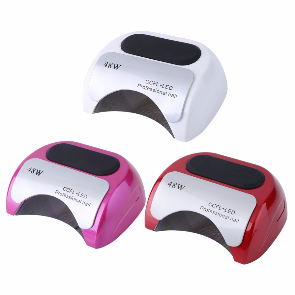 48W UV LED Nail Lamp Nail Dryer Gel Polish Curing Light with Bottom 10s/30s/60s Timer LCD Display Nail Art Tools EU Plug noq smart sensor nail lamp with battery 48w uv led nail light dryer for curing all type gel polish with timer button 10s 30s 60s