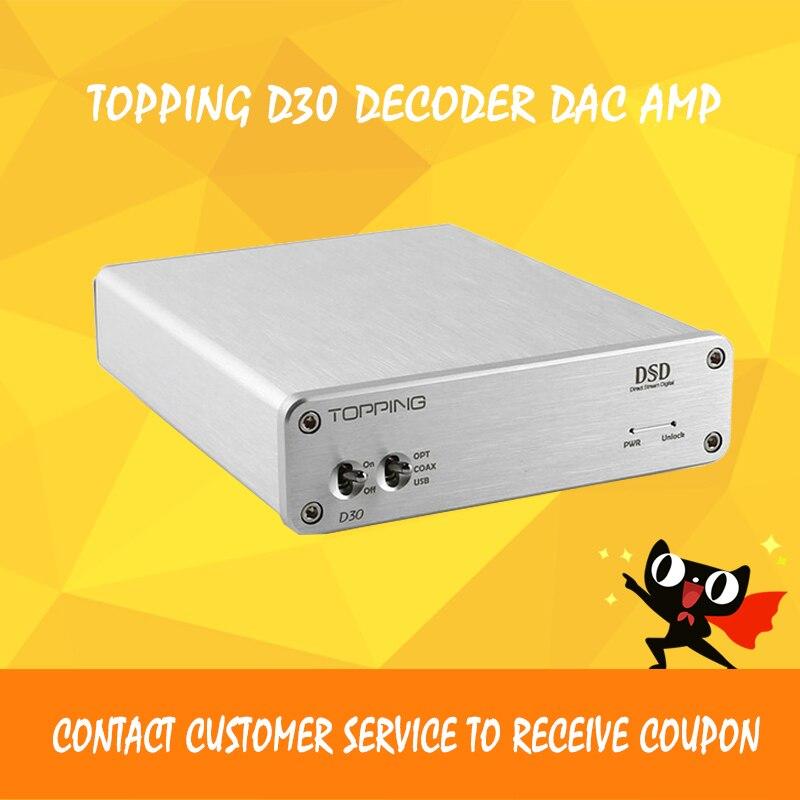 ASD Topping D30 Desktop Hifi Digital DSD Audio Decoder XMOS USB DAC Coaxial Optical Fiber CS4398 24Bit 192KHz amplifier asd topping d30 desktop hifi digital dsd audio decoder xmos usb dac coaxial optical fiber cs4398 24bit 192khz amplifier