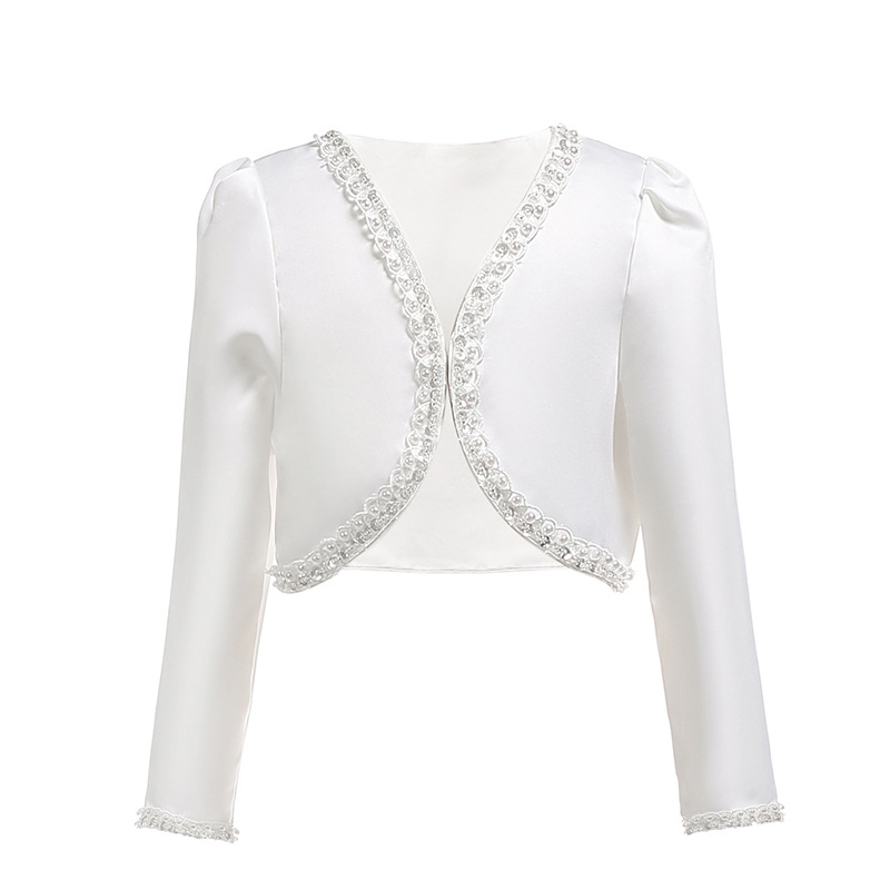 6872c414207ce 2019 Girls Jacket White Child Cardigan Bridesmaids/Flower Girl Wedding Party  Girl Clothes for 2