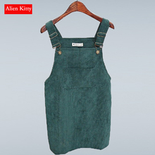 Alien Kitty 8 Colors Summer Fashion Vintage College Wind Corduroy High Waist Skirts Women Midi Skirt