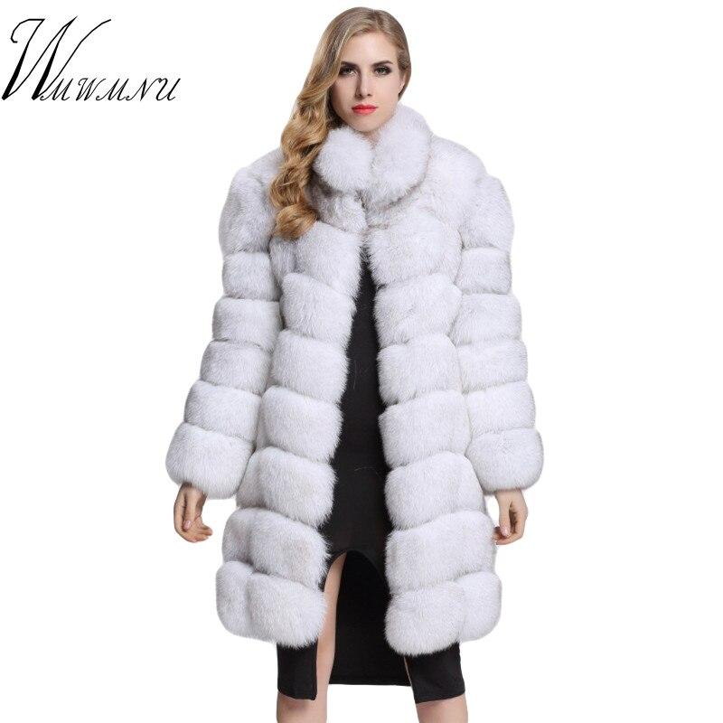 Outwear Luxe Color Taille 3xl silver Fourrure Pardessus Street Mode gray White Chaud Femmes Faux Long Color Renard brown Plus 2019 Wear black Hiver La De khkai Fox Veste fox Manteaux a0TUwx