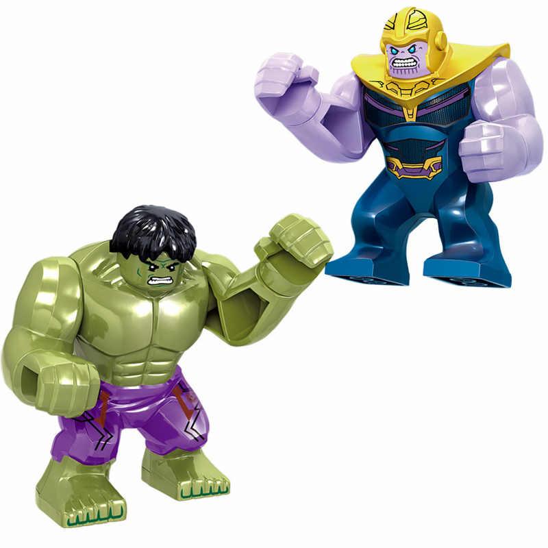 Мстители Лига блок действий Marvel DC Супер Герои фигурки Legoing Халк Капитан Американский Супермен Бэтмен Тор Железный человек игрушки
