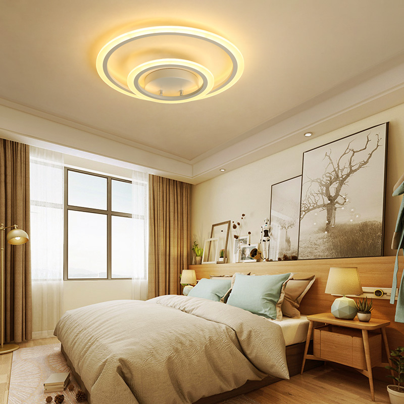Modern fashion plafonnier led ceiling light indoor lighting ceiling mounted surface multi-layer circular acrylic ceiling lamp