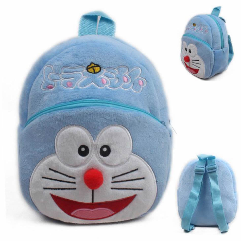 Popular Cute Cartoon Children Doraemon Mini School Bag toys Baby Plush Backpacks Boy Girl Shoolbag For Kindergarten Gift