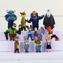 Amazing 12pcs/set Zootopia Animals Action Figure Toys Rabbit Judy Hopps Fox Nick Wilde Movie Kids Gift Collection Figures