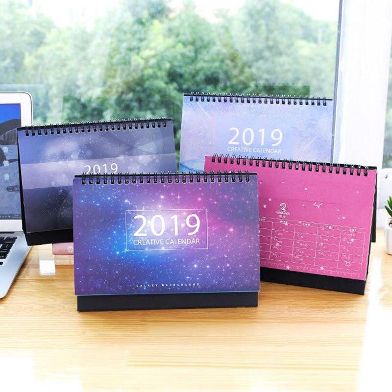 1 Stücke Kawaii Schöne Landschaft Starry Sky Monatlichen Plan Zu Tun Liste Tisch Schreibtisch Kalender Agenda Organizer Schedule Planer Jährlich