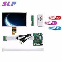 Skylarpu 7 inches גבוהה ברזולוציה 1024x600 מסך תצוגת LCD TFT צג עם מרחוק שלט נהג 2AV HDMI VGA עבור