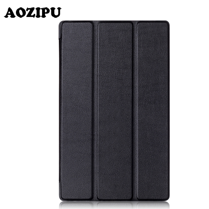 Smart Tri-fold PU Leather Tablet Case for Kindle Fire HD8 2016 2017 8inch eBook Stand Protective Ultra Slim Cover Funda Case awesome image 180 quick fold portable projection screen 16 9 floor stand screens with carry case support ultra hd 4k