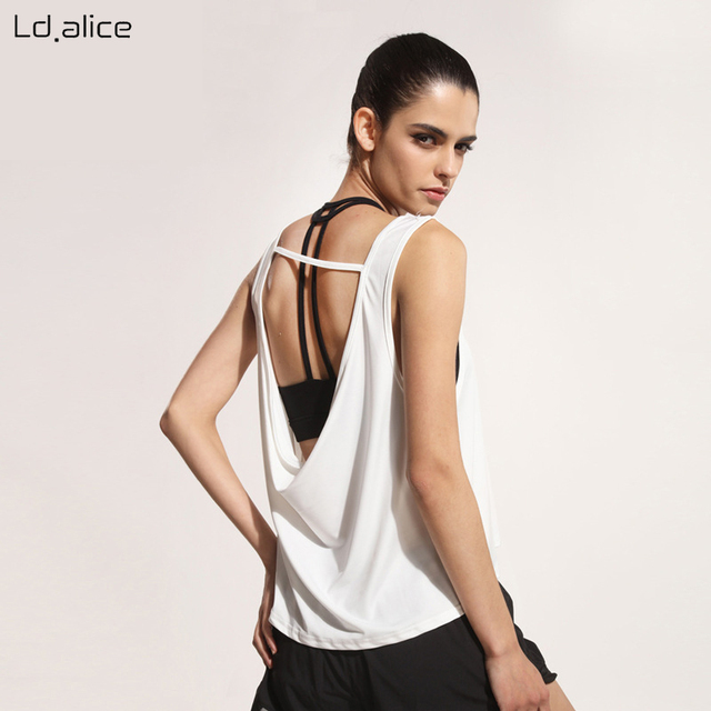 7e2c33534f ALICE Summer Women Loose Skimpy Backless Yoga Tank Tops Comfortable Sexy  Fitness Sports T Shirt Sleeveless Outdoor Cool Tops