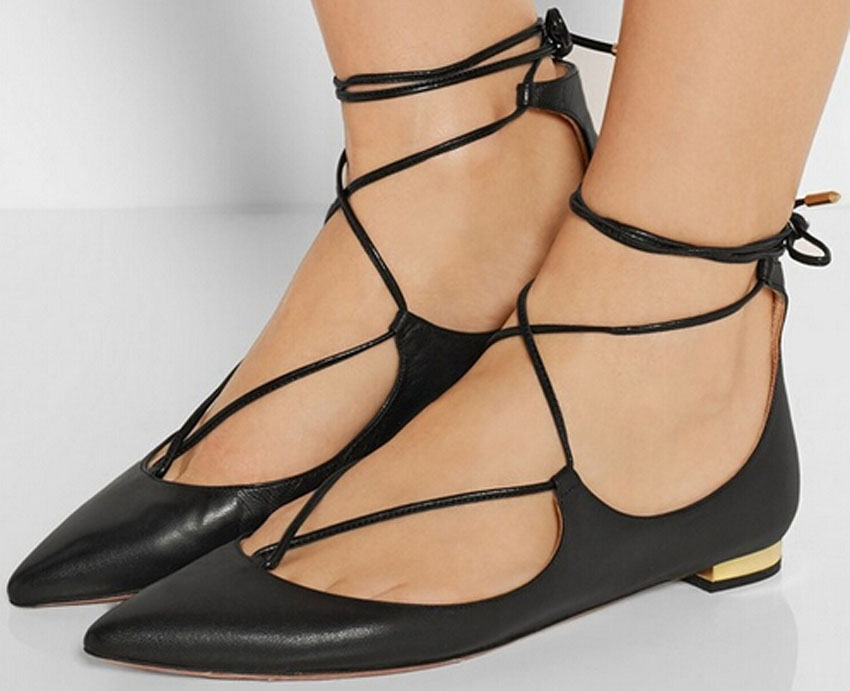 ФОТО Woman Sexy Cross Lace Up Retro Style Pumps Black Pointed Toe Low Heel Dress Shoes Concise Design Woman Pumps