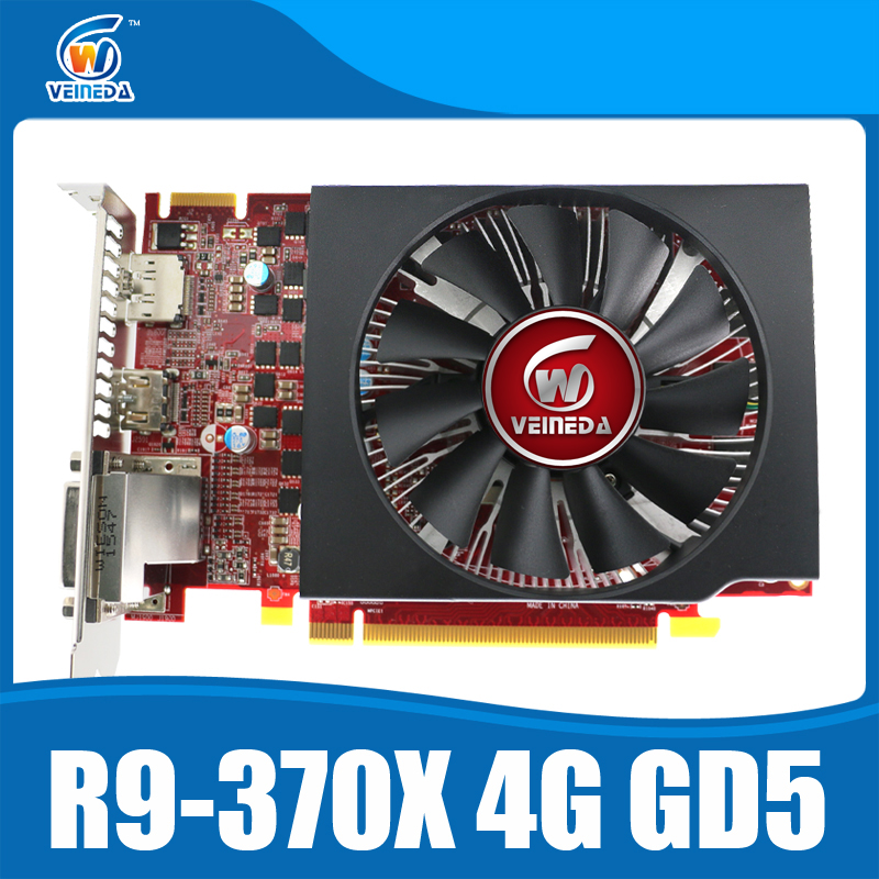 video card 100% original ATI Radeon Chipset R9 370X 4GB 256Bit GDDR5 graphics card produced by MSI stronger than R9 370 , GTX950