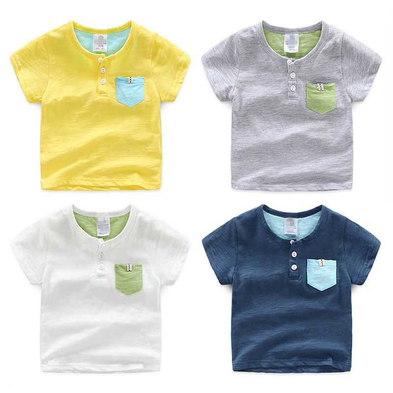 Baby Short-Sleeve T-Shirt Turn Down Collar 2017 Summer Fashion Male Children'S Clothing Boys Anchor Basic Shirt