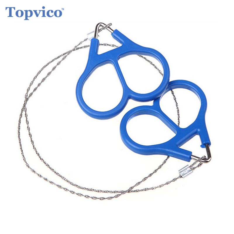 Topvico Portable Stainless Steel Wire Saw Outdoor Survival Self Defense Camping Hiking Hunting Chainsaws Hand Saw Fret Saw Tools