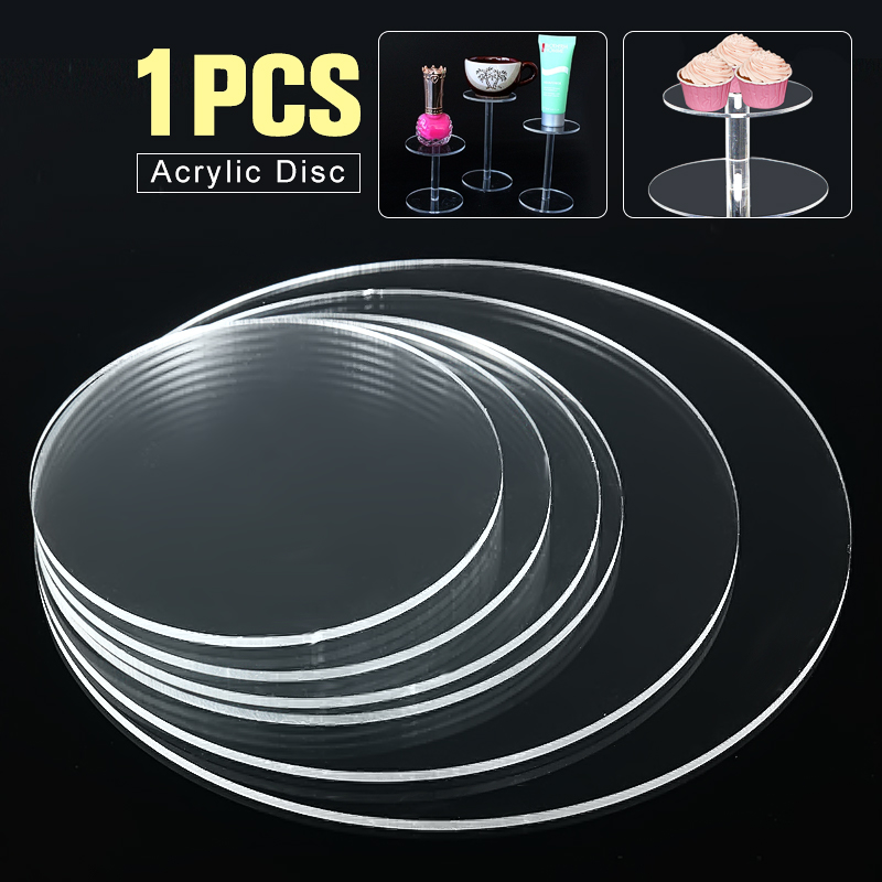 3mm Clear Extruded Acrylic Circle Earrings With Hole Acrylic Discs Beads Plexiglass For  ...