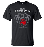2017 Summer Men Short Sleeve Shirt 100 Cotton Male T Shirts Game Of Thrones Targaryen Fire