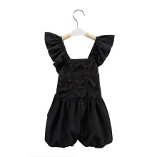 baby girl Lace jumpsuit black suit children one piece jumpsuit