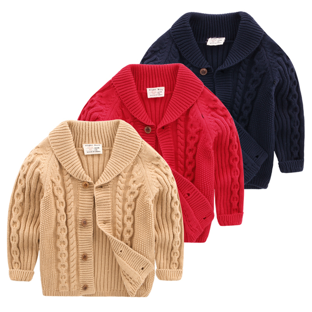 The boy cardigan sweater sweater coat 2017 new autumn Korean children baby crothet children U3754