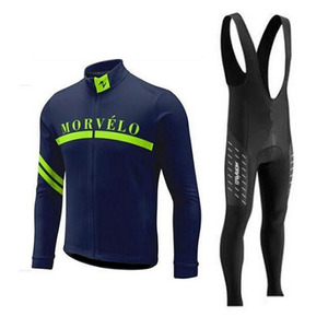 Image 3 - 2018 Morvelo 春サイクリングセットサイクリングジャージビブパンツロング秋ロードバイク自転車服 mtb mallot ropa ciclismo hombre