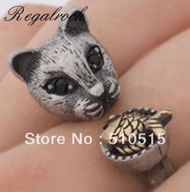 Regalrock Cat Eat Fish Ring