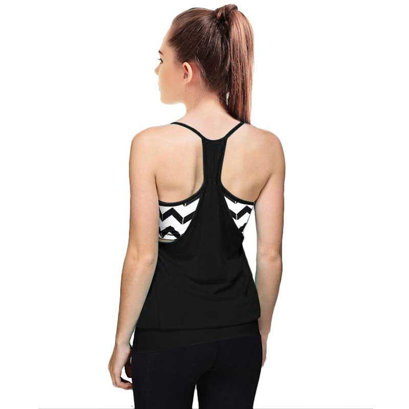 Femmes Pro Compression séchage rapide réservoir + soutien-gorge Gym gilet Sport t-shirt Yoga entraînement Fitness exercice course vêtements Tee Top marque gilet