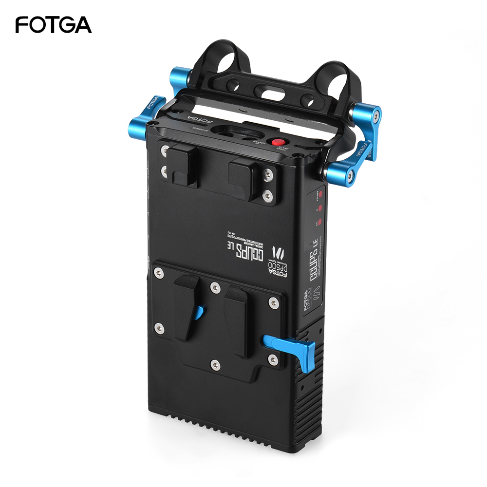 FOTGA DP500III 2 in 1 V mount Battery Plate Adapter Charger with 15mm Rod Clamp for